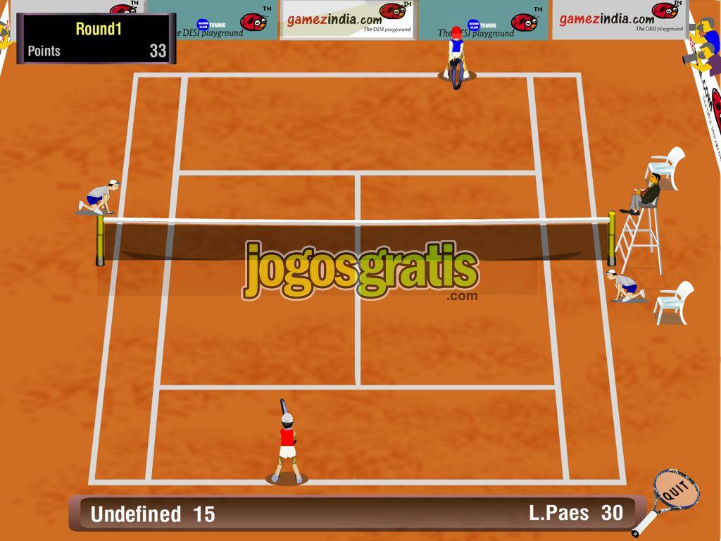 Jogo de tenis online